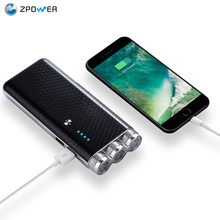 Free sample mobile power supply 18650 phone charger led flashlights restaurant power bank