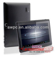 7inch Allwinner A13 2g gsm phone tablet Android 4.0 2GB ROM Dual cameras 5 points touch capacitive screen