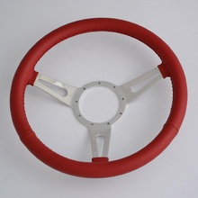 "China 15"" Classic Leather Steering Wheel for Restoration Jaguar MG Mini"
