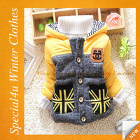 2015 Yellow and black winter kids clothing low price clothes for children wholesale baby clothes HJ-232