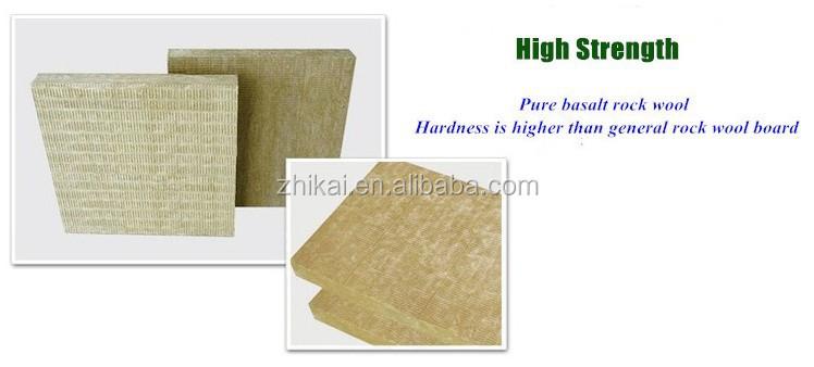 Acoustic rock wool 80kg m3 fireproof rockwool insulation for Fireproof rockwool