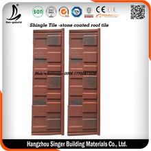 New design Sangobuild colorful sand coated roof tile steel price/natural stone tiles/kenya sand coated roofing tiles for house