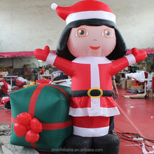 Hot sale merry christmas inflatable girl products