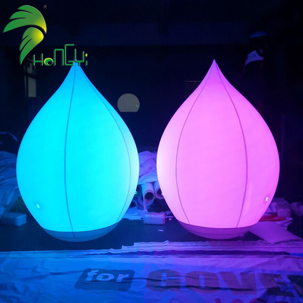 Amazing Event Decoration Multi-color LED Lighting Inflatable Water Drop Balloon