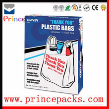 Factory Sale Customized Compostable EPI D2W PLA Corn Starch 100% OXO Biodegradable Plastic T-shirt Bags