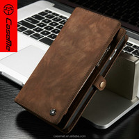 Smart phone accessory back cover leather cover for iPhone 6 plus, cash wallet brown cases for iPhone 6s plus