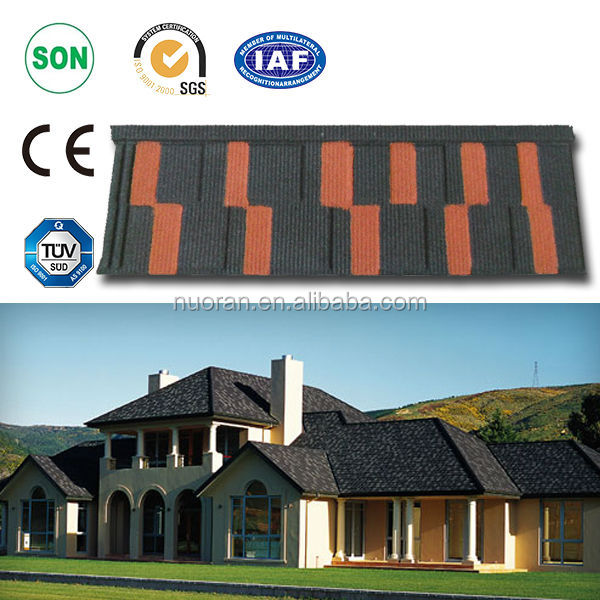 steel metal roofing tile for villa/o.4mm high quality Africa sand coated metal roofing tile