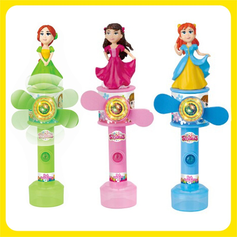 3D Figure whirly Spin Fan Toy Candy for Beauty girl multicolor Red Green Blue