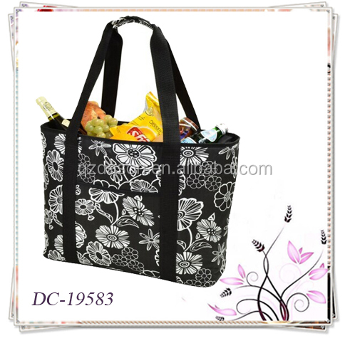 Large lunch bag cooler,wine insulated cooler bag