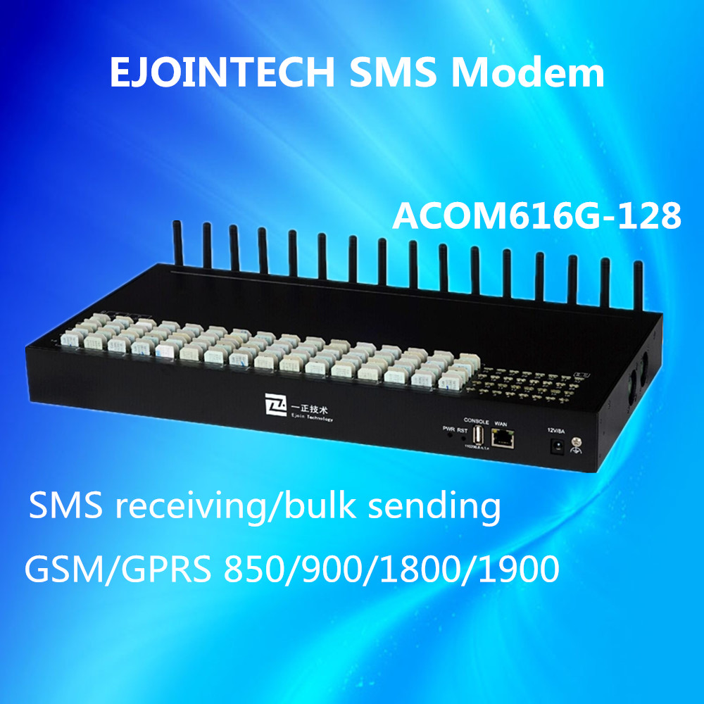 Ejointech voip sip 16 channels 128 mobile sim cards send and receive sms online gateway