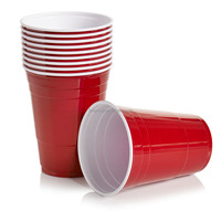 Colorful Disposable red plastic cups / party cup