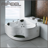 2016 AIFEEL new design freestanding massage acrylic bathtub mini indoor hot tub with surf jet