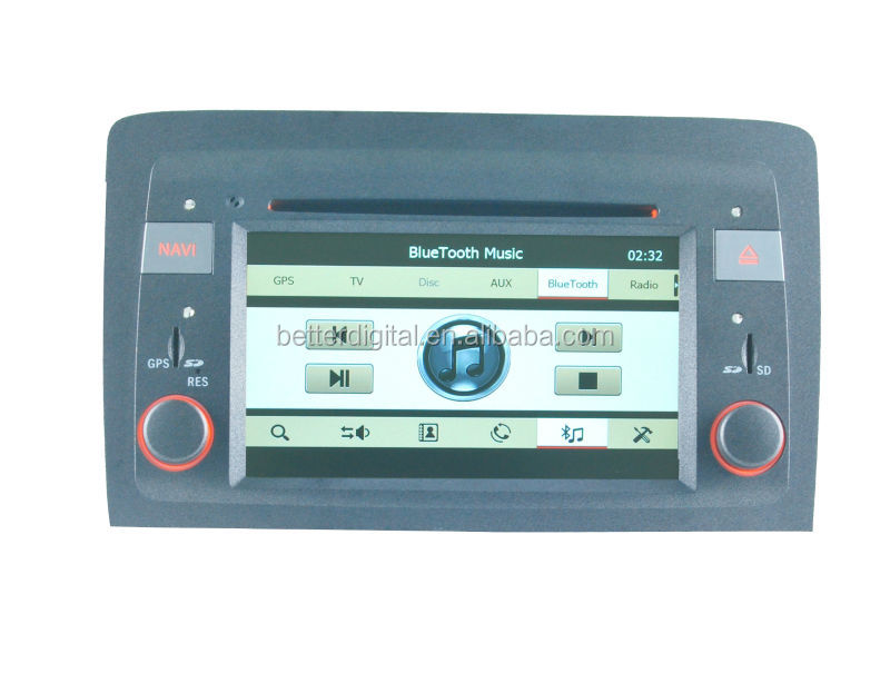 Fiat idea car radio player gps navigation