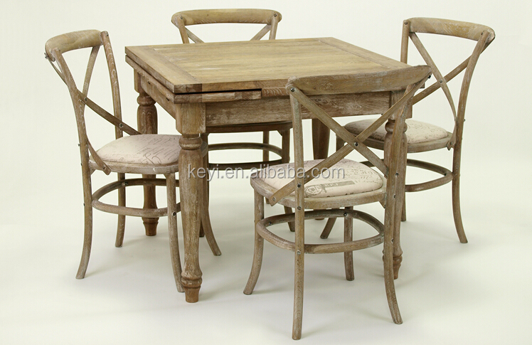 Home Useful Antique Solid wooden extensible Dining /Party Table (DT-515F-OAK,90CM)