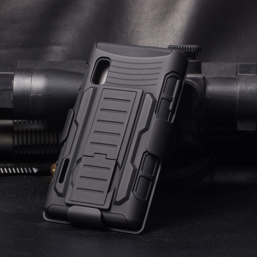 IN STOCK!!Future Armor Combo Rugged Hard Belt Clip Holster Stand Cover For LG L5 Optimus E610 Phone Case