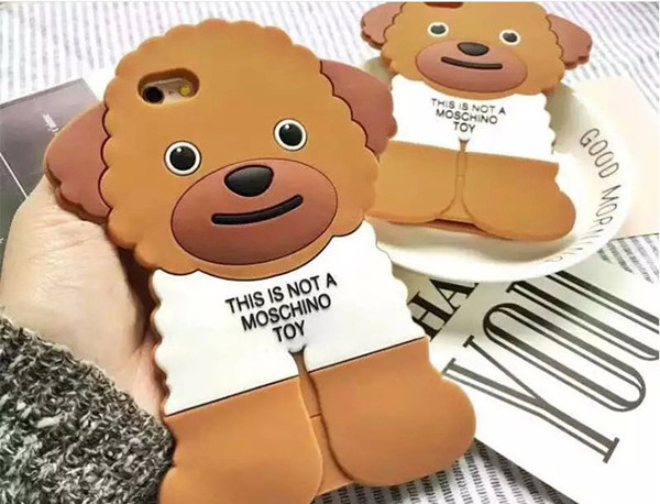 Teddy Bear food grade Gel silicone phone cases with bumpers for iphone6 and iphone6 plus