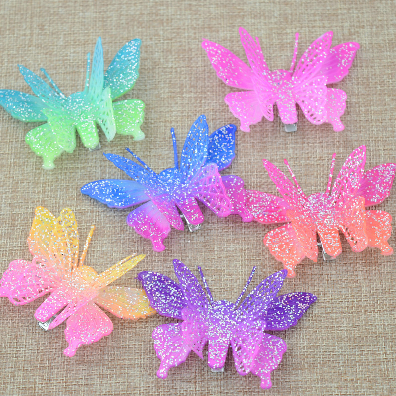 Cheap plastic butterfly hair claw clip