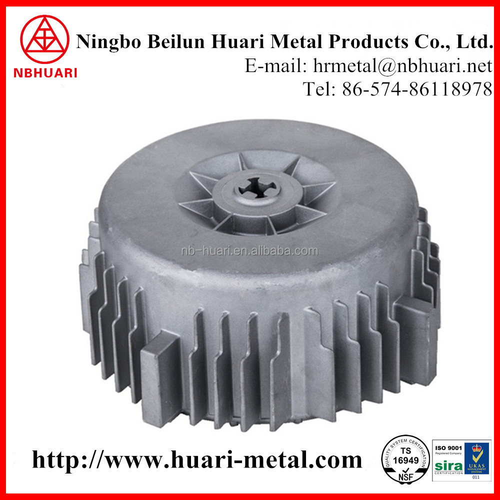 Customized Electric Motor Fan Cover, Die Casting Aluminum Parts