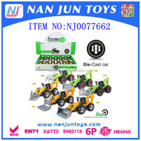 Promotional farmer metal car toys for sale