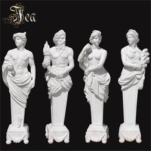 Outdoor garden life-size four season marble statue sculpture