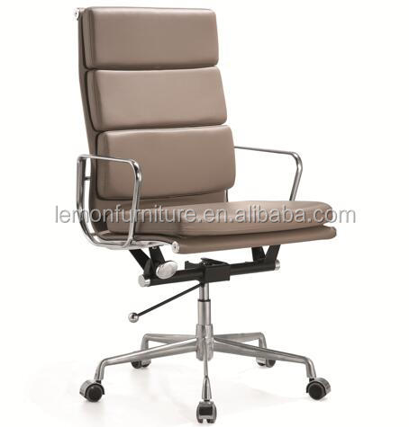 Foshan furniture market modern high back italian genuine leather executive office chairs
