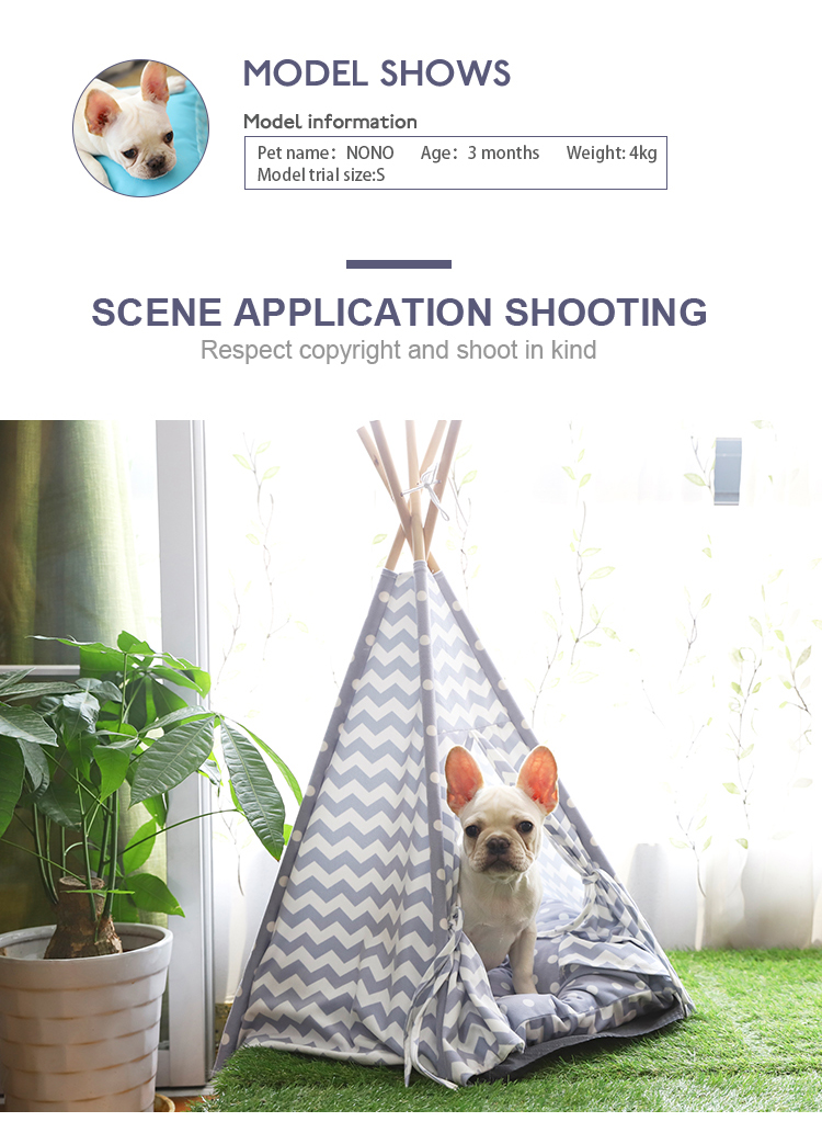 Five Sticks Soft Happy Pet Tribe Comfortable Pet Teepee Dog Tent Cat Tent