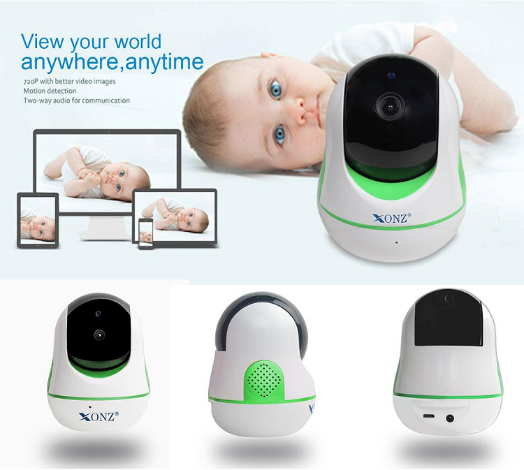 HD WIFI Video 720P baby monitor wireless security camera system intercom audio talk device