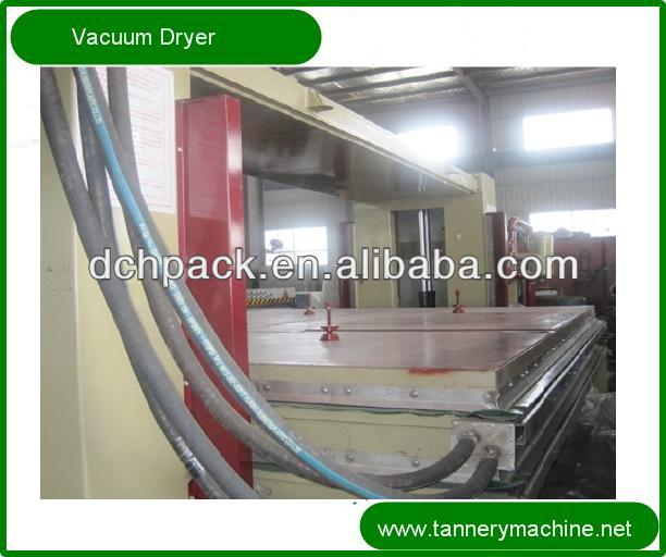hydraulic pressure tannery machine leather vacuum dryer