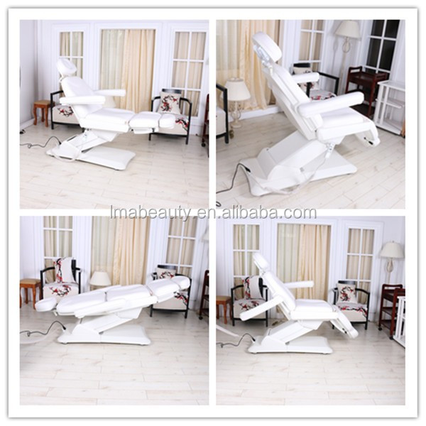 Hot sale beauty salon furniture chairs and bed electric cosmetic bed with 3 motors