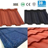 shiny roof tile chinese temple roof tile stone coated metal roof tile/stone coated steel roof tile/roof tile