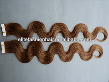 Elite Fashion Hair Highest Quality Human Hair Skin Weft 8-30inch Brazilian Remy Tape Hair Extension Body Wave Tangle Free