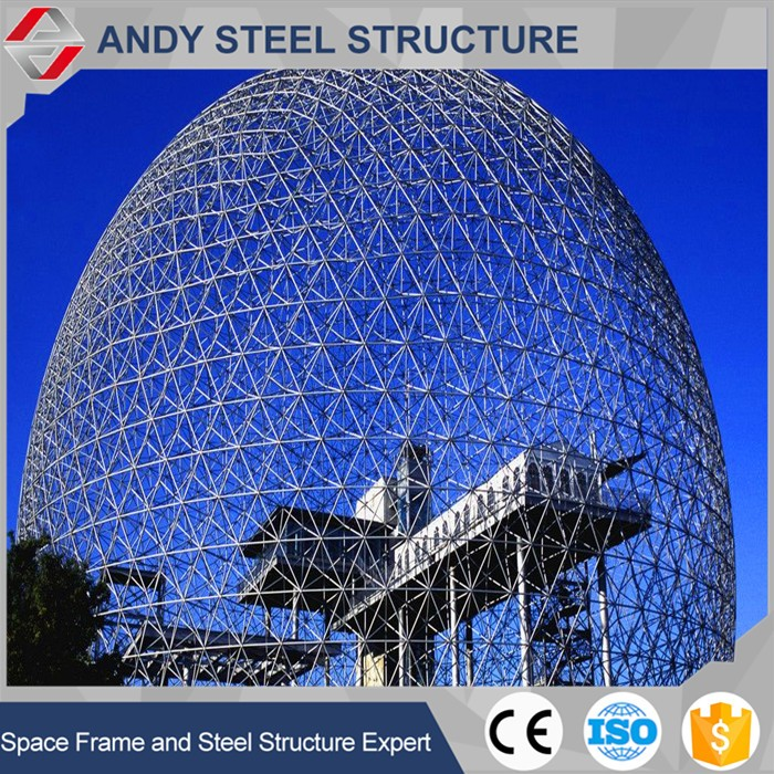 Steel dome roof structure
