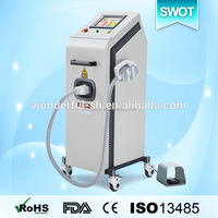 Vertical Q-Switched YAG laser skin mole removal machine Tattoo Removal