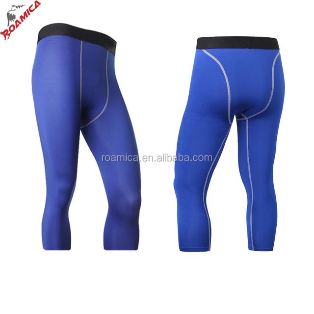 Men Gym Sport Yoga Kind Leggings Clothing Running Gym Tights, Hot Sale 3/4 Yoga Gym Leggings