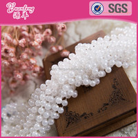 Loose and rolls package meters round white fixed string ABS pearl chain