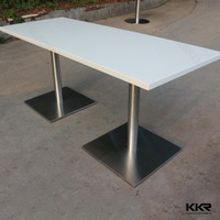 measuring artificial stone dining table