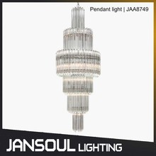 luxury column crystal stairs modern pendant chandelier light for stairwell