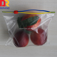 transparent ldpe slider bag gift pouch