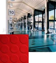 Red Rubber Studded Floor Tile
