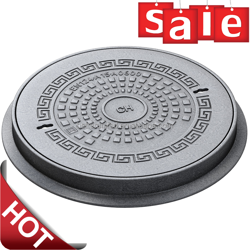 Municipal construction use square or round cast iron manhole cove / cast iron manhole cover price