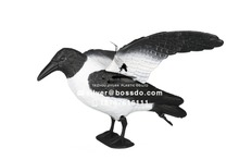 Plastic Full body Realistic Black Flying Crow Decoys for Hunting