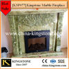 KSP077 Home Decoration Green Jade Marble Fireplace Mantel