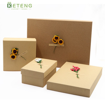 Unique customised brown black matte paper craft gift boxes