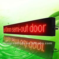 Multifunction 16x128 dots P10 scrolling message led bus board in red