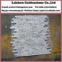 Chinese manufacture 12x12 glass mosaic floor tile