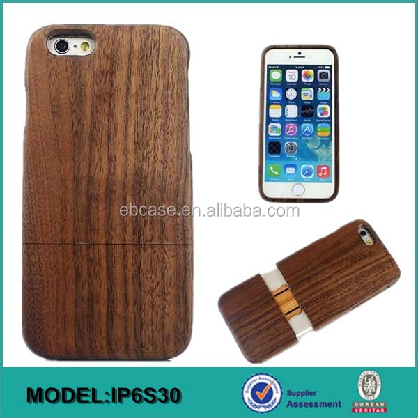 Alibaba Wholesale wood mobile phone cover for iphone 6,for iphone 6 wood back case
