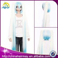 Factory Price Hot Selling Hatsune Miku Wholesale Ombre Long Straight Wig Cosplay