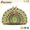 CR Factory OEM support new trendy shiny diamond surface beautiful peacock women evening bags smell proof backpack