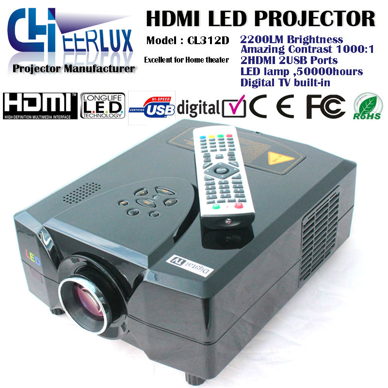 tvs digital movies projectors with hdmi & usb & led lamp & lcd panel & multimedia interface for home theater cinema games