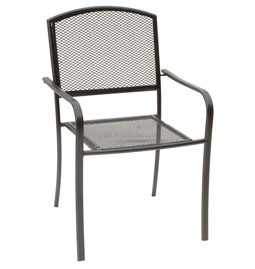 Cheap metal mesh outdoor dining round table and chairs set for Outside table and chairs